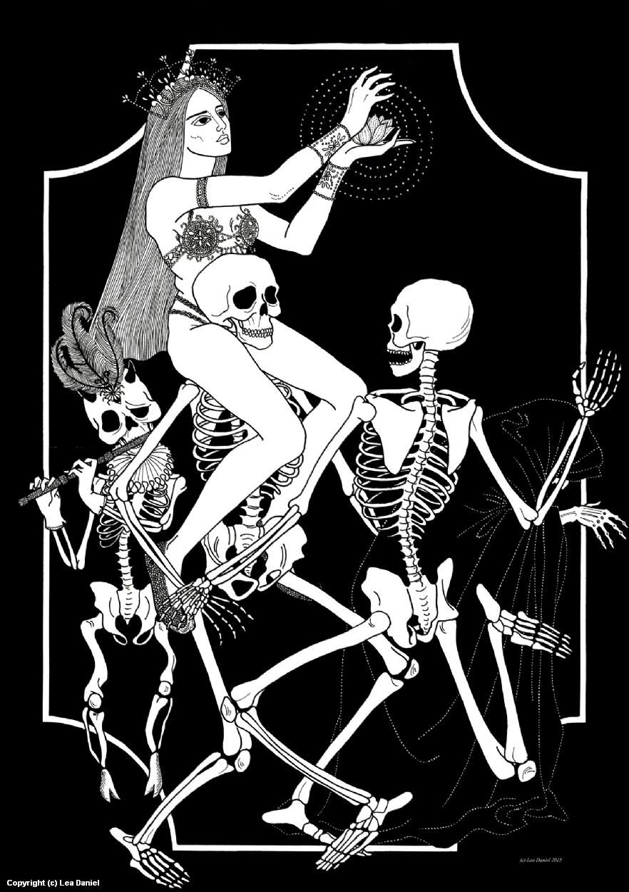 Danse macabre Artwork by Anastasiia Antonova