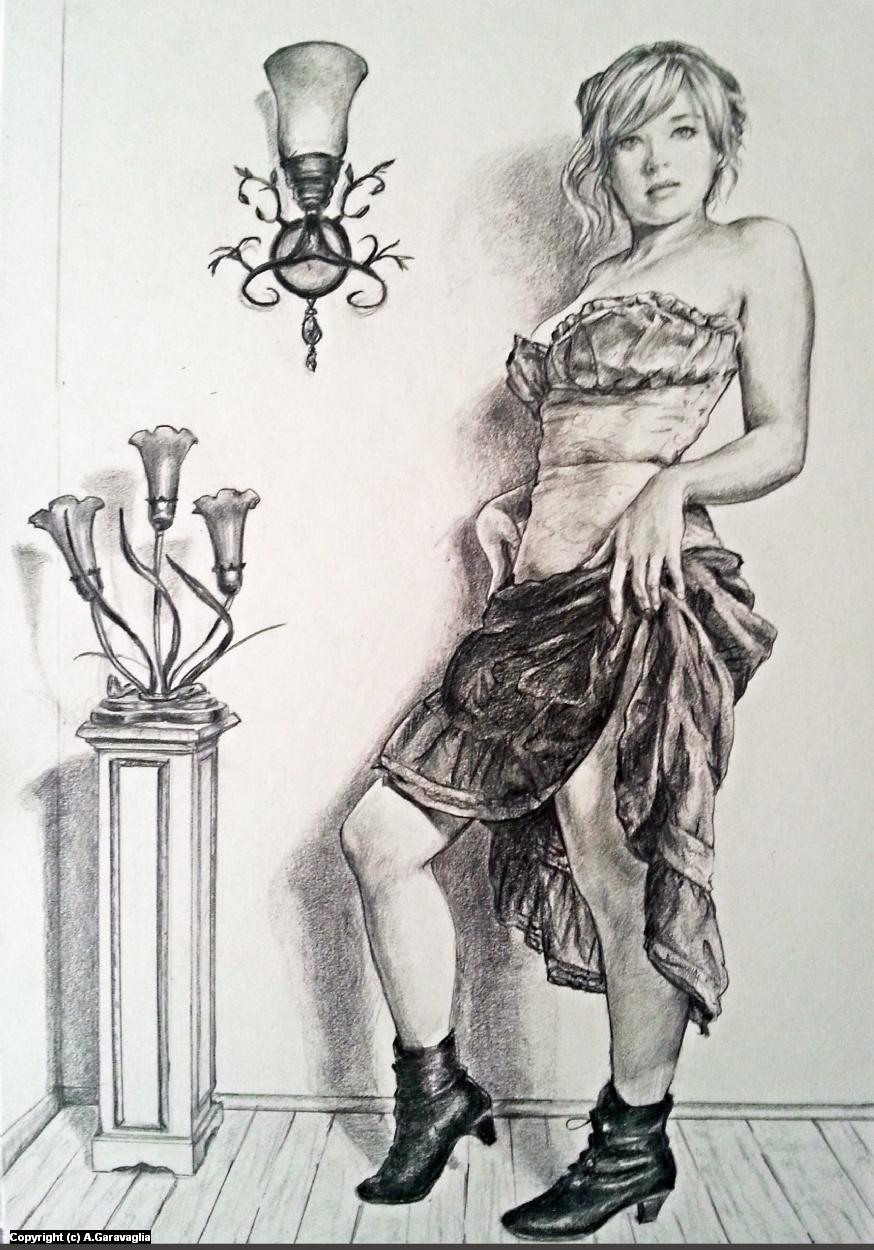 Prostitute Blue Book Artwork by Anne Garavaglia