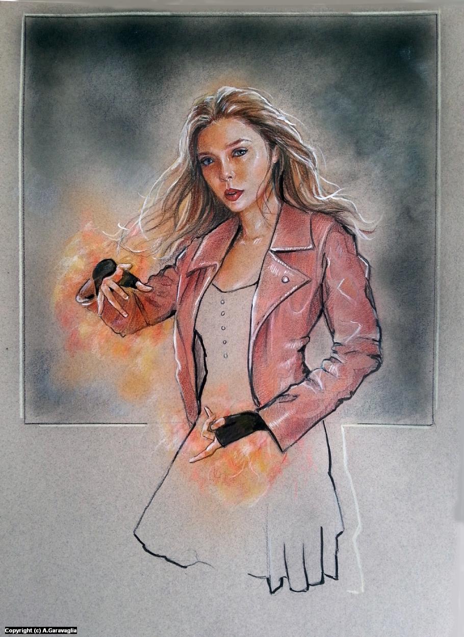 Scarlet Witch Artwork by Anne Garavaglia