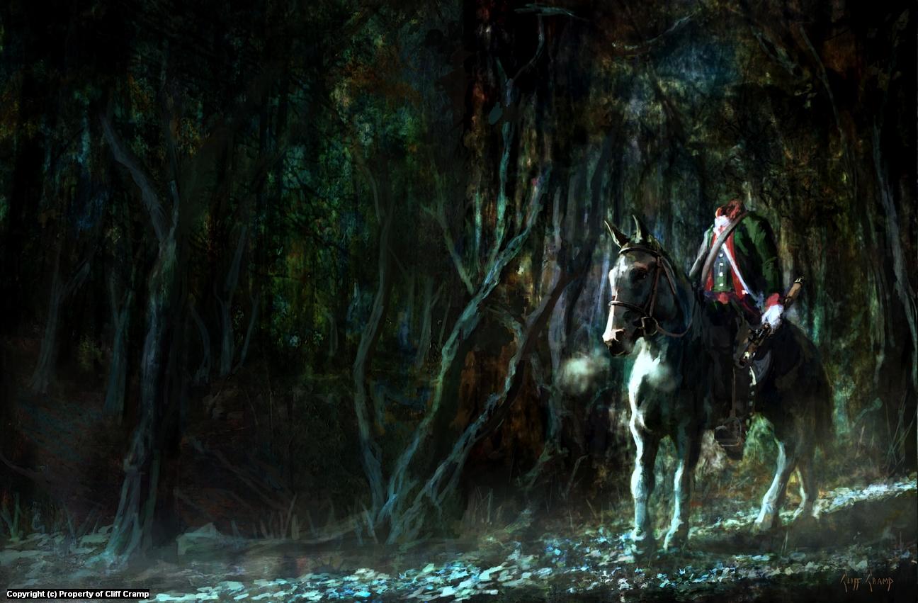 The Headless Horseman Artwork by Cliff Cramp