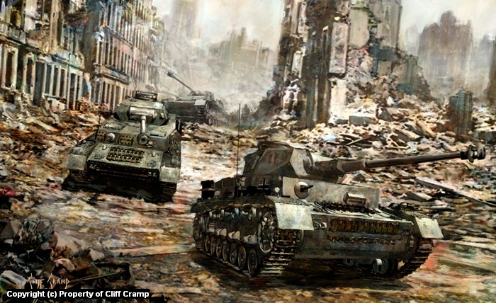 Panzer IV's Artwork by Cliff Cramp