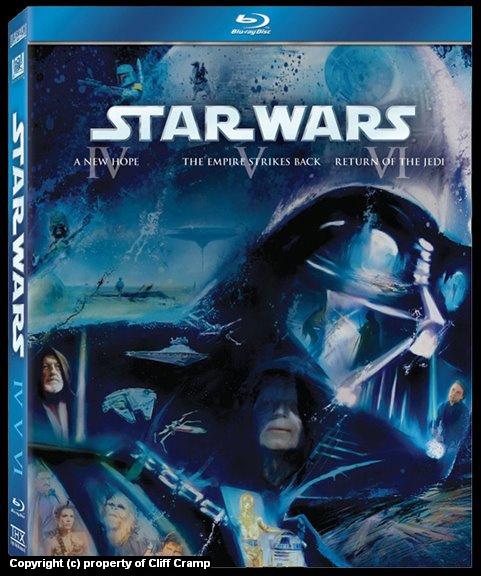 Star Wars Episodes 4, 5, 6 on BluRay Artwork by Cliff Cramp