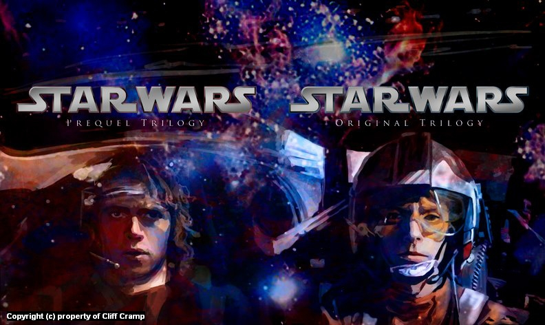 Star Wars BluRay cover concept Artwork by Cliff Cramp