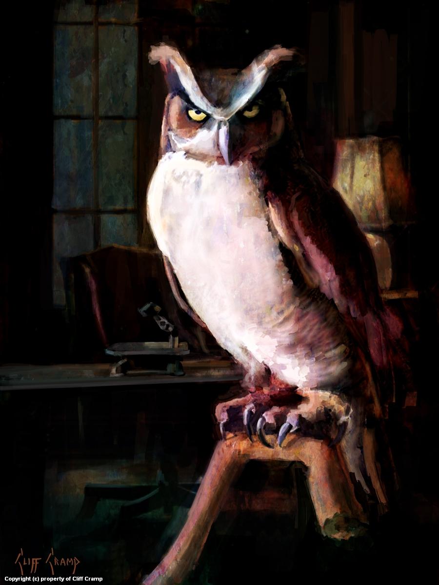 The Rosen Association Owl Artwork by Cliff Cramp