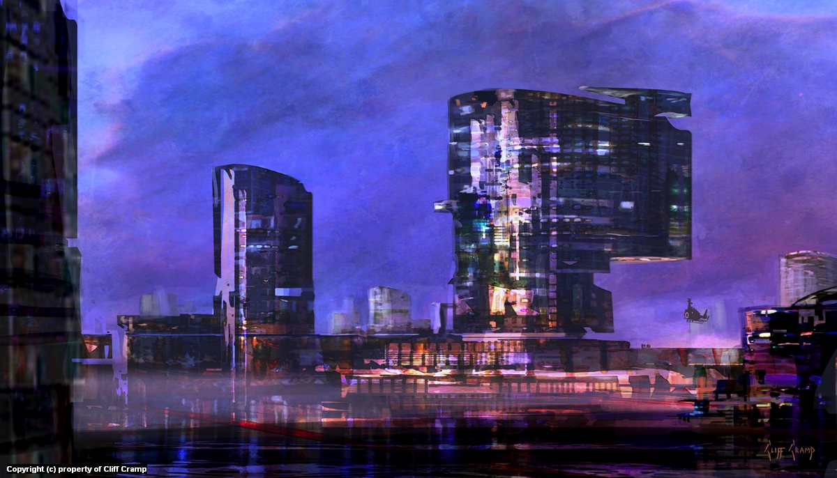 City Concept 2 Artwork by Cliff Cramp