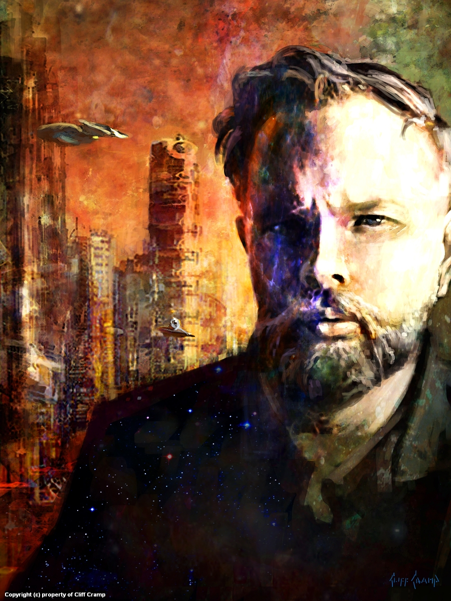 Philip k Dick  Artwork by Cliff Cramp