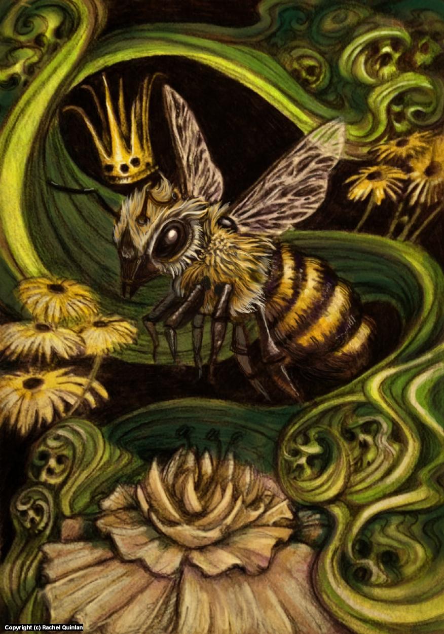 Queen Bee Artwork by Rachel Quinlan