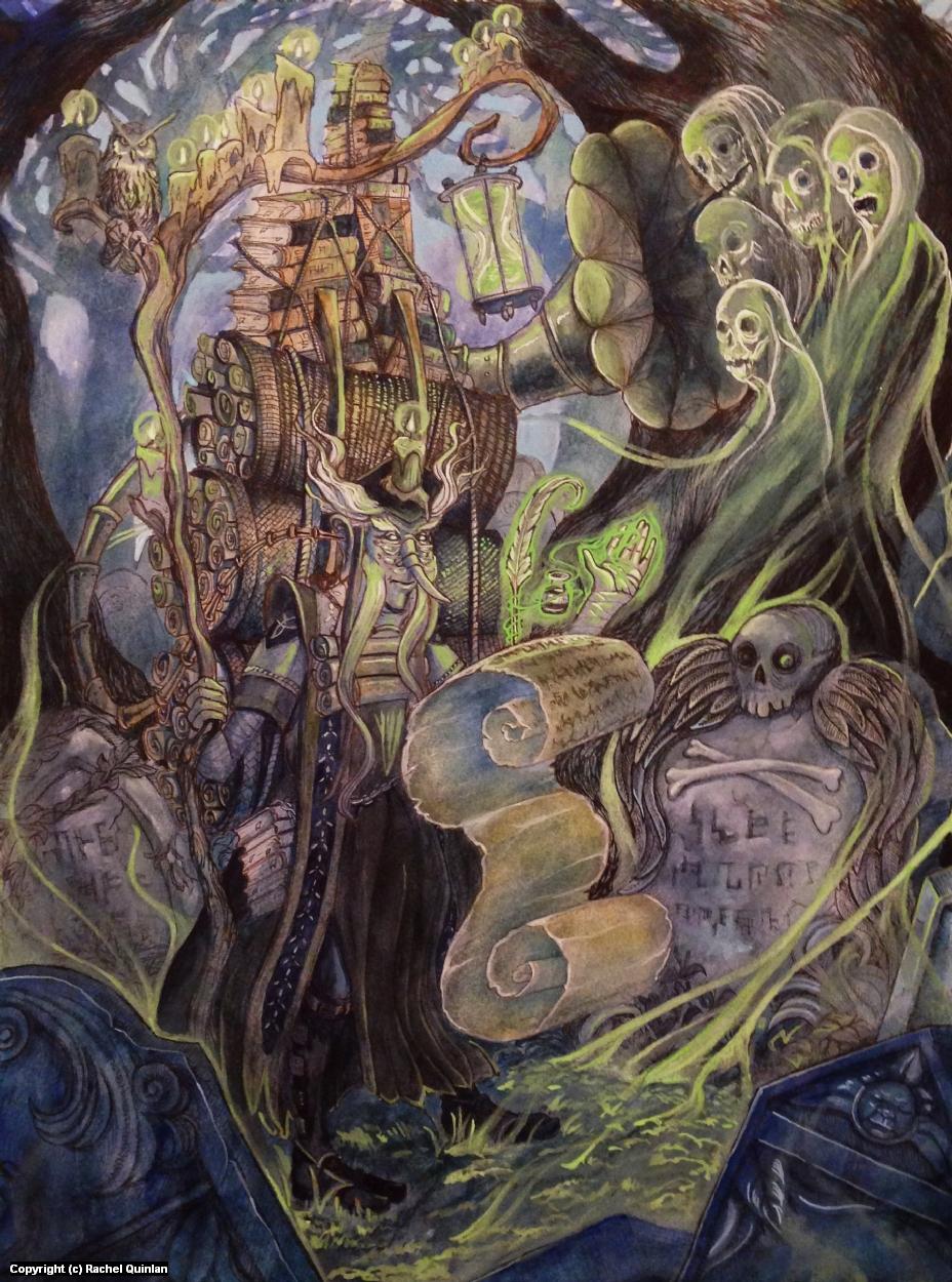 Collector of Secrets Artwork by Rachel Quinlan