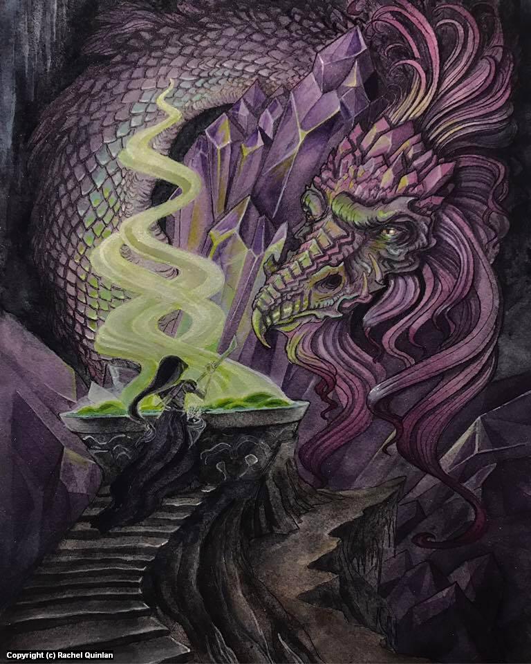 Crystal Dragon Artwork by Rachel Quinlan
