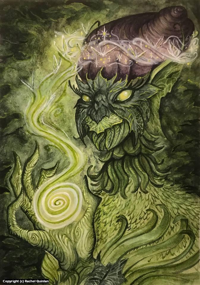 Green Fairy Artwork by Rachel Quinlan