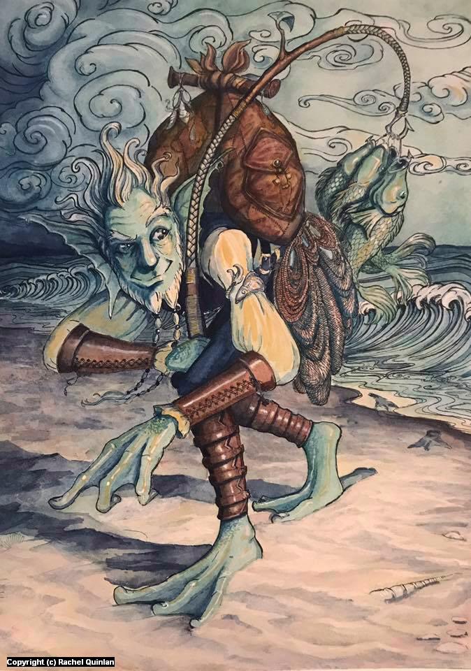 Fisherman Artwork by Rachel Quinlan