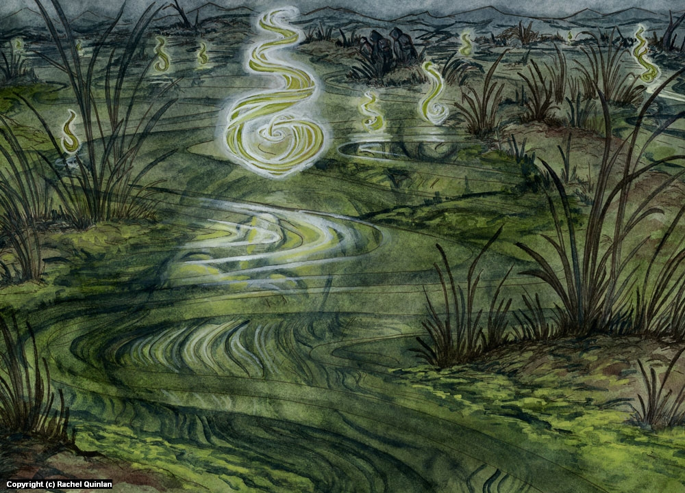 The Dead Marshes Artwork by Rachel Quinlan