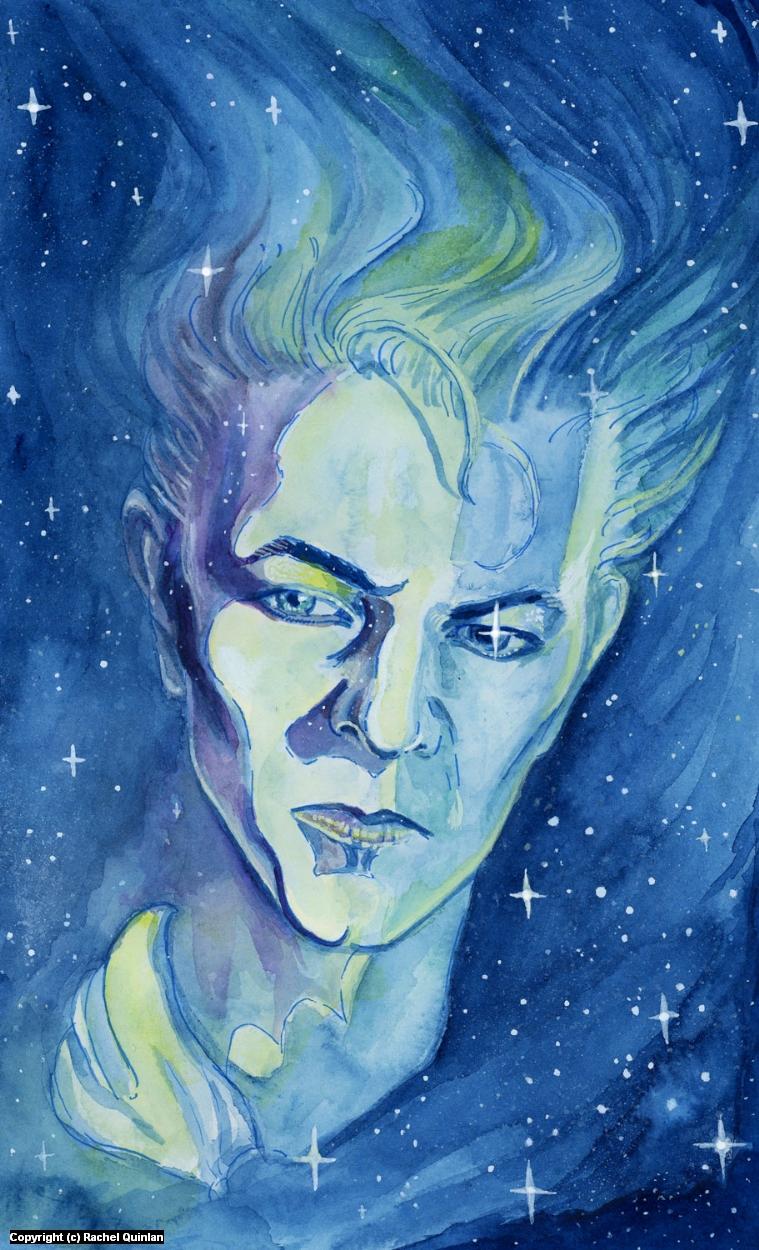 Blue, Blue, Electric Blue Artwork by Rachel Quinlan