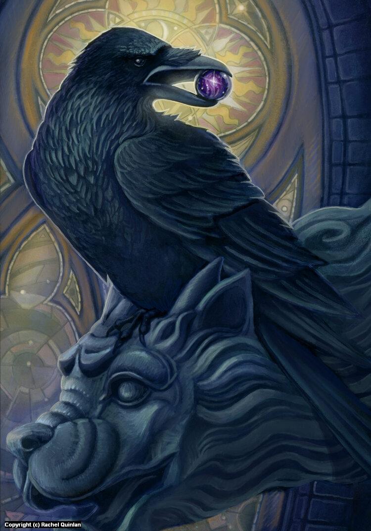 Corvid Companion Artwork by Rachel Quinlan