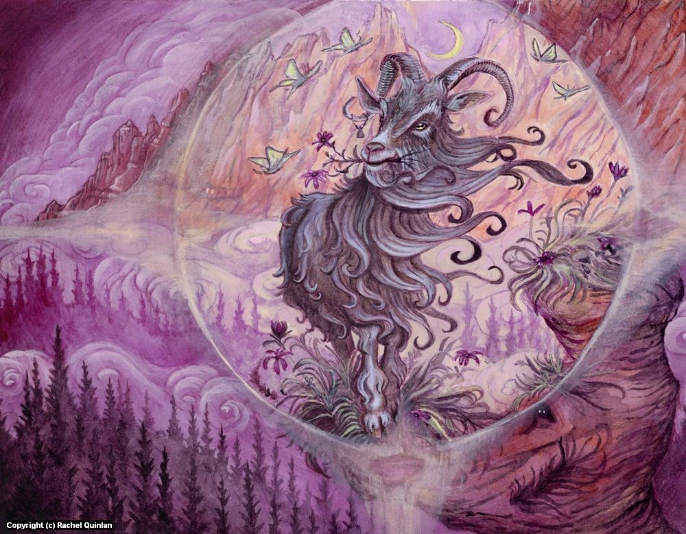 Just a Normal Goat Artwork by Rachel Quinlan