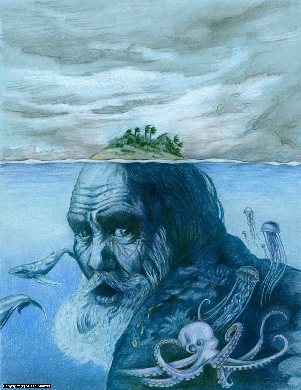 The Old Man and the Sea Artwork by Susan Shorter