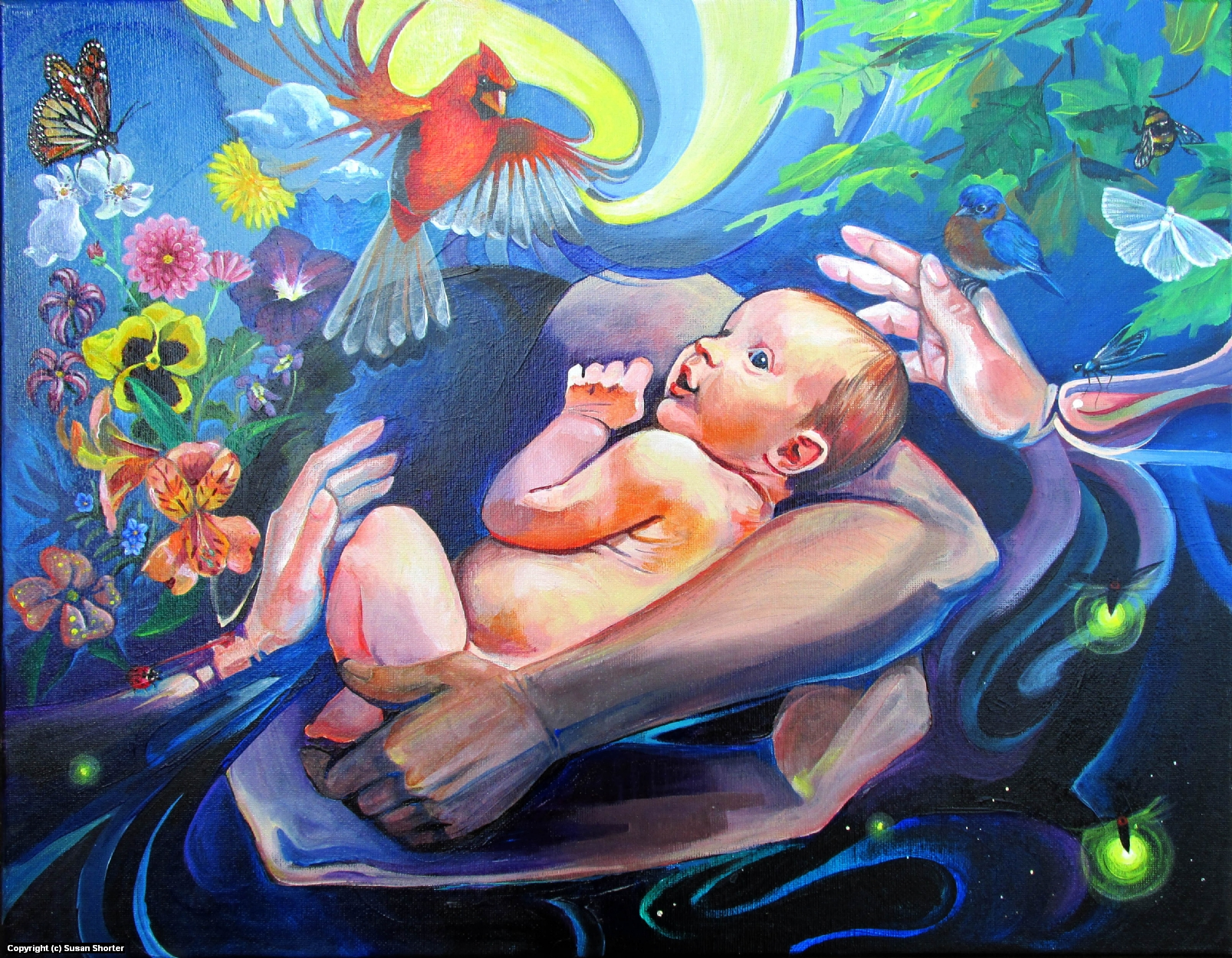 Born Into the Arms of Imagination Artwork by Susan Shorter