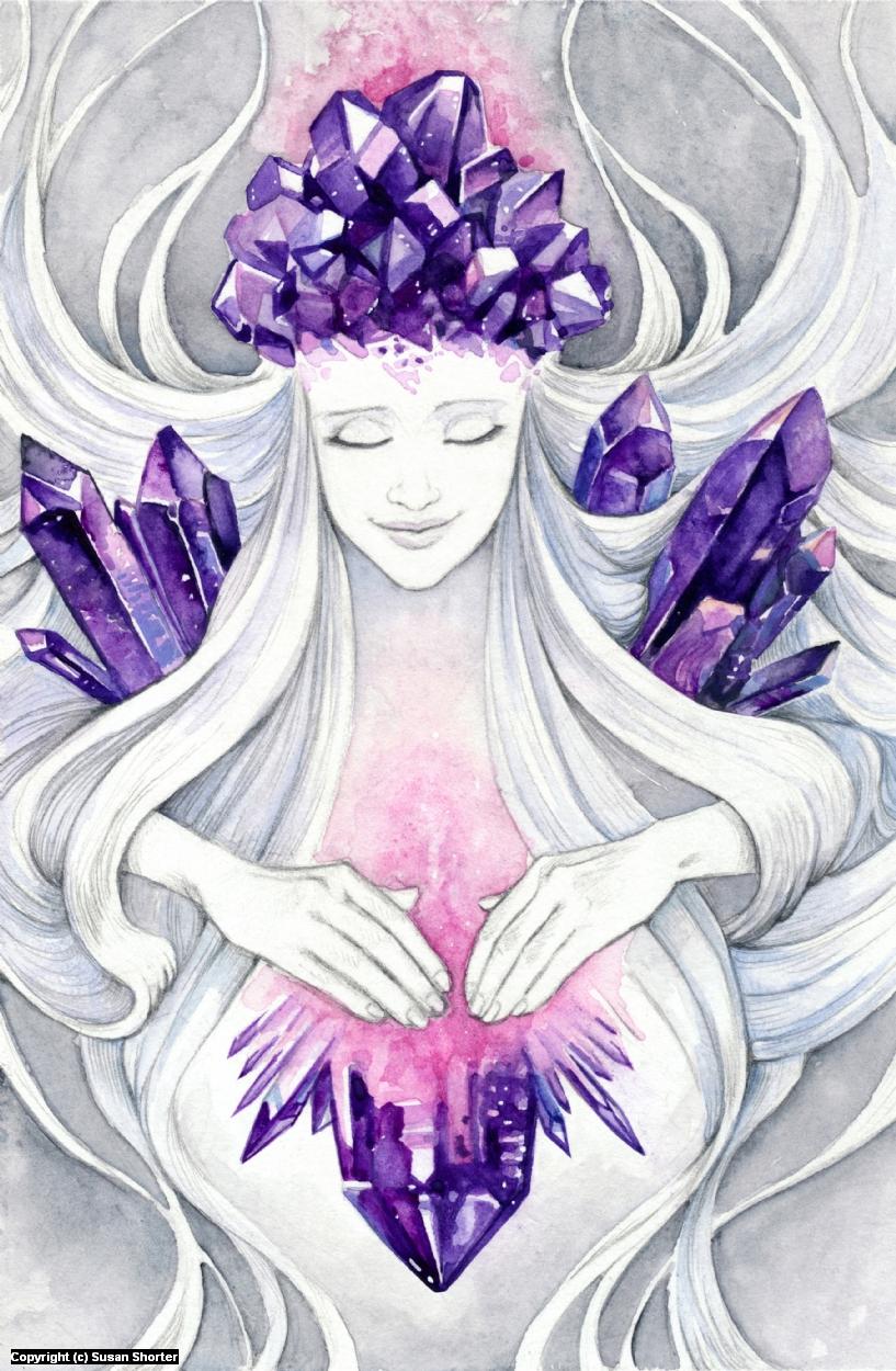 Amethyst Healer Artwork by Susan Shorter