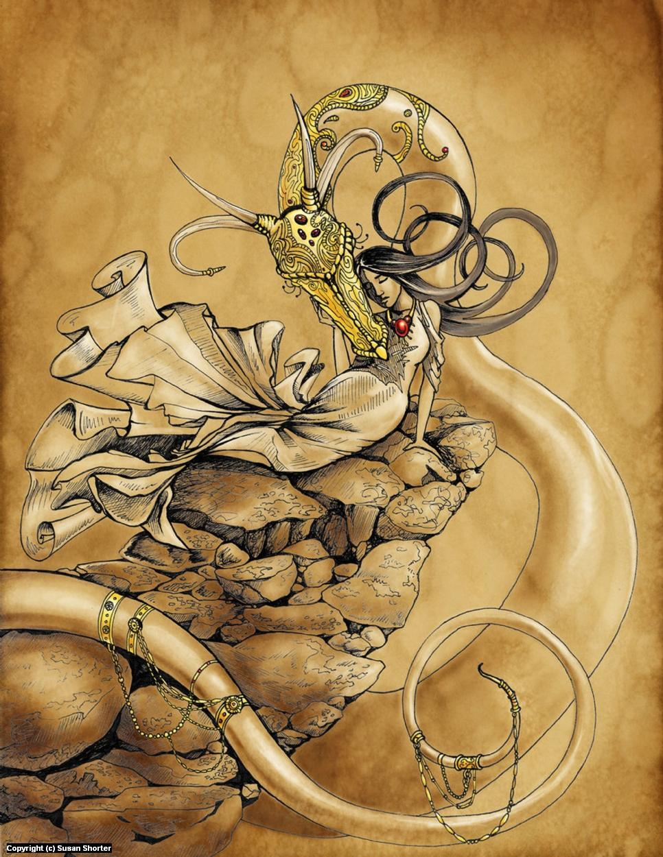 Dragon Maiden Artwork by Susan Shorter