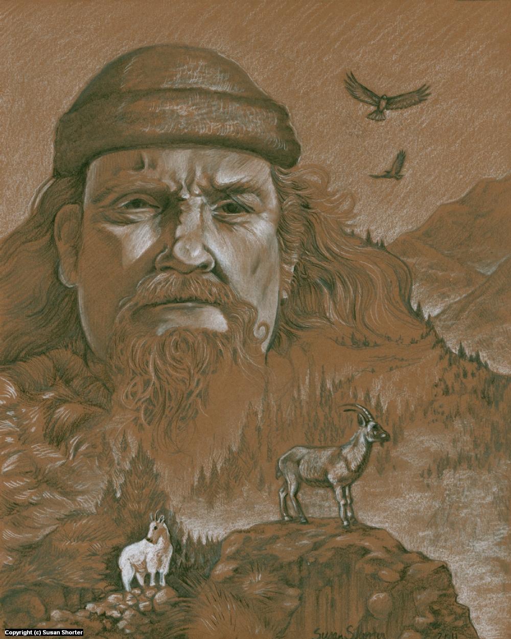 Mountain Man Artwork by Susan Shorter