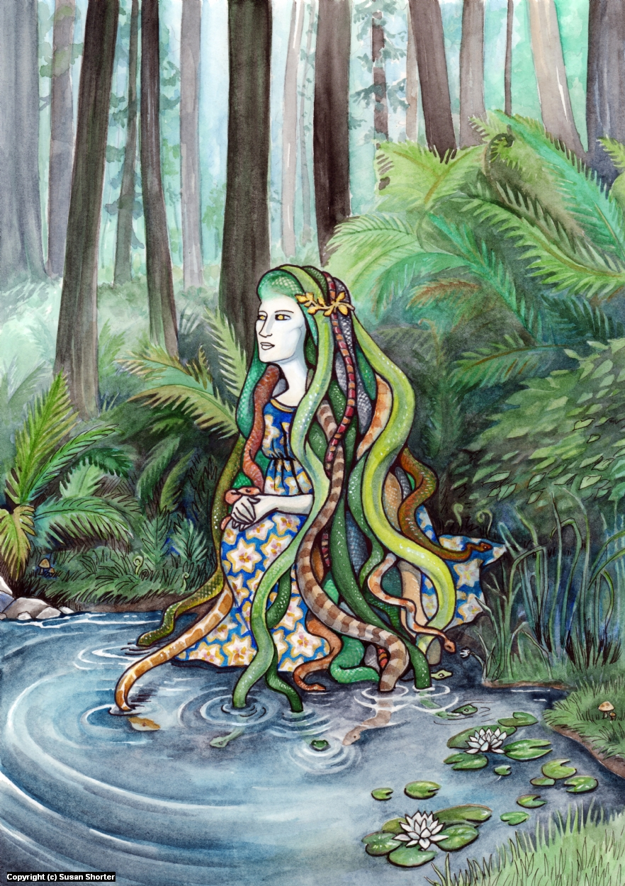 Medusa in Repose Artwork by Susan Shorter