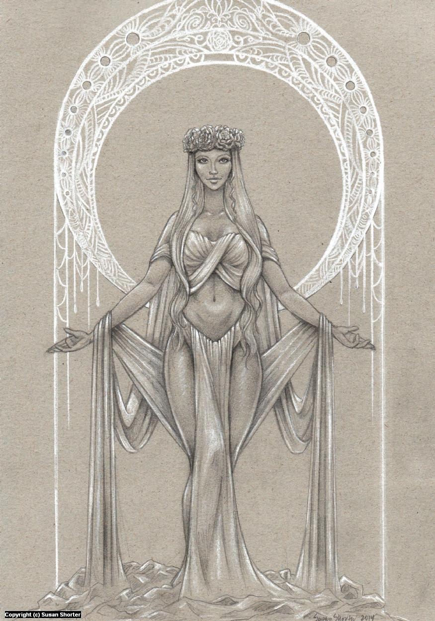 The Grey Goddess Artwork by Susan Shorter