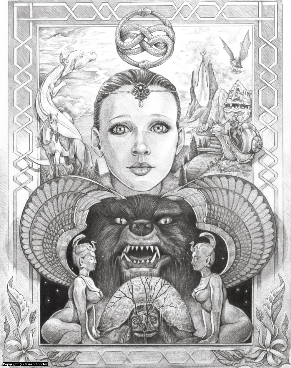 Ode to the Neverending Story Artwork by Susan Shorter