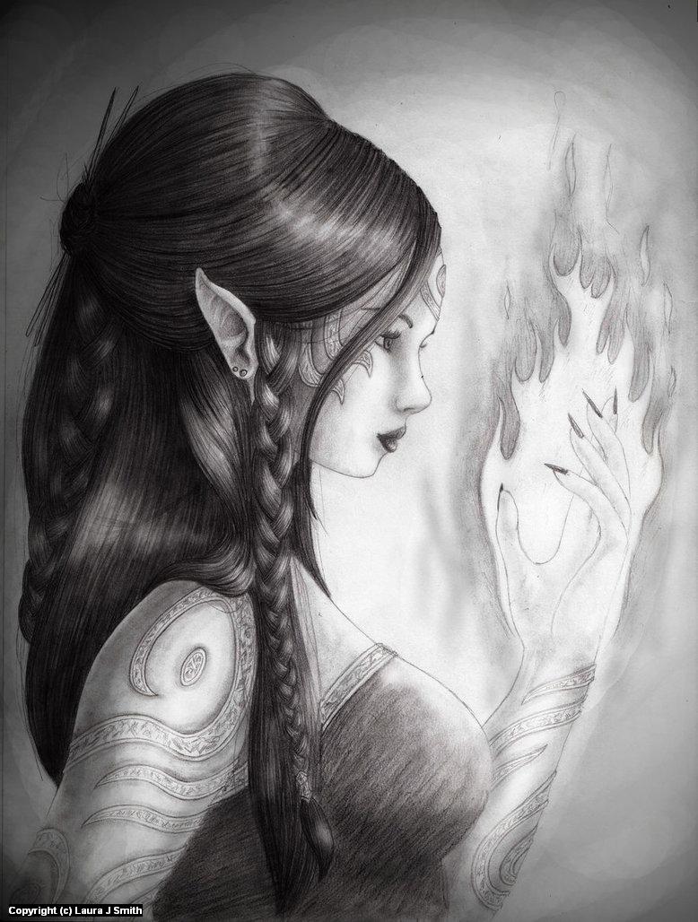 Lady Djinn Artwork by Laura Smith