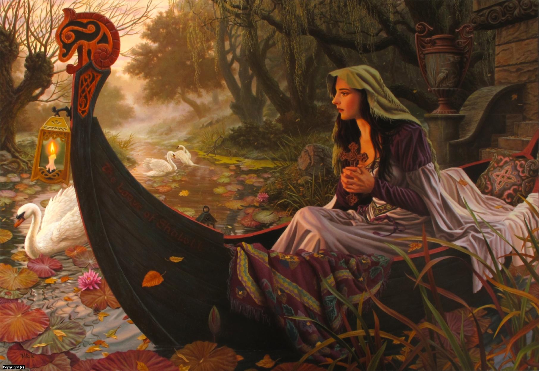 Lady of Shalott Artwork by raoul vitale