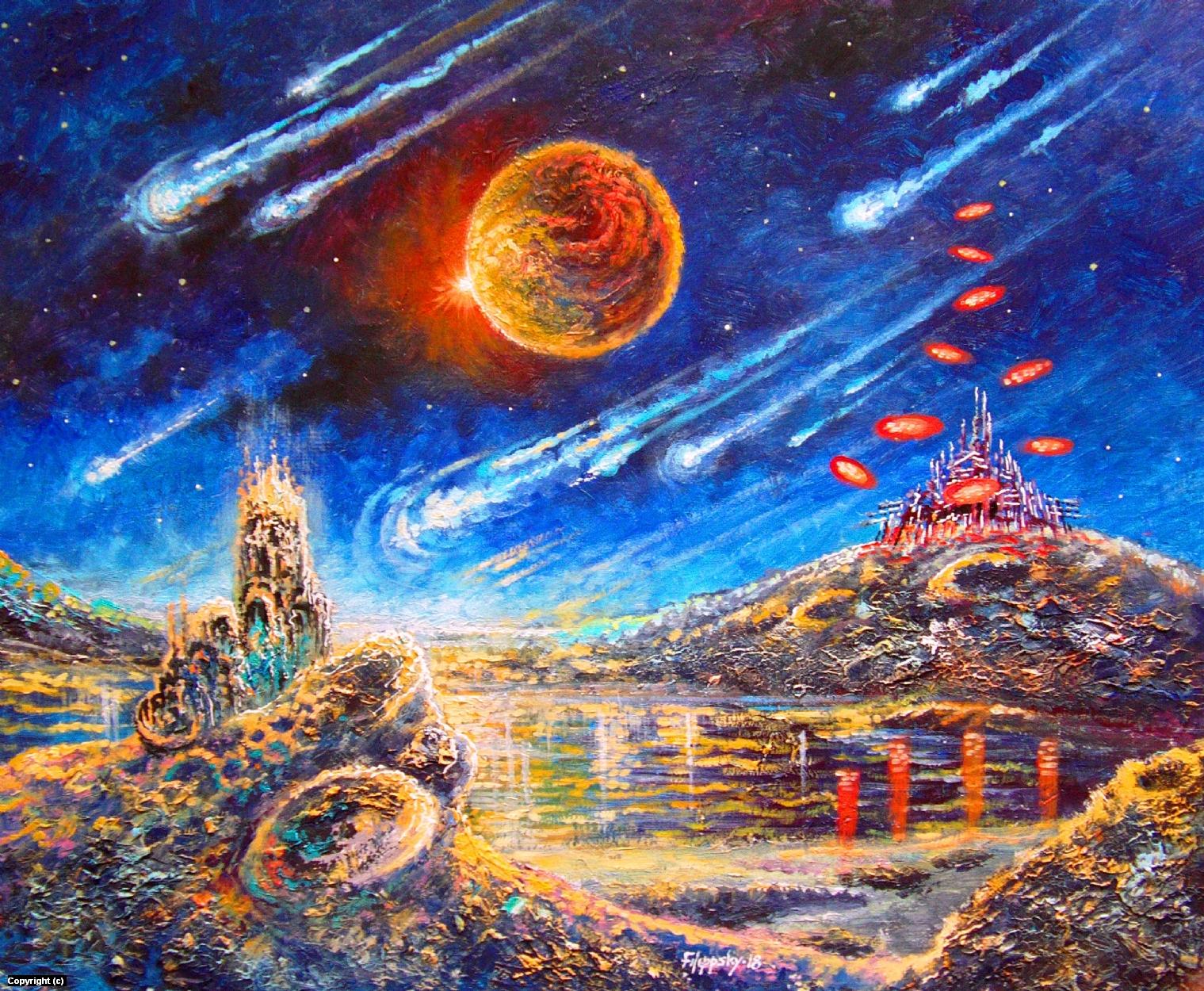 29 век.Терраформирование Луны. Artwork by Victor Filippsky