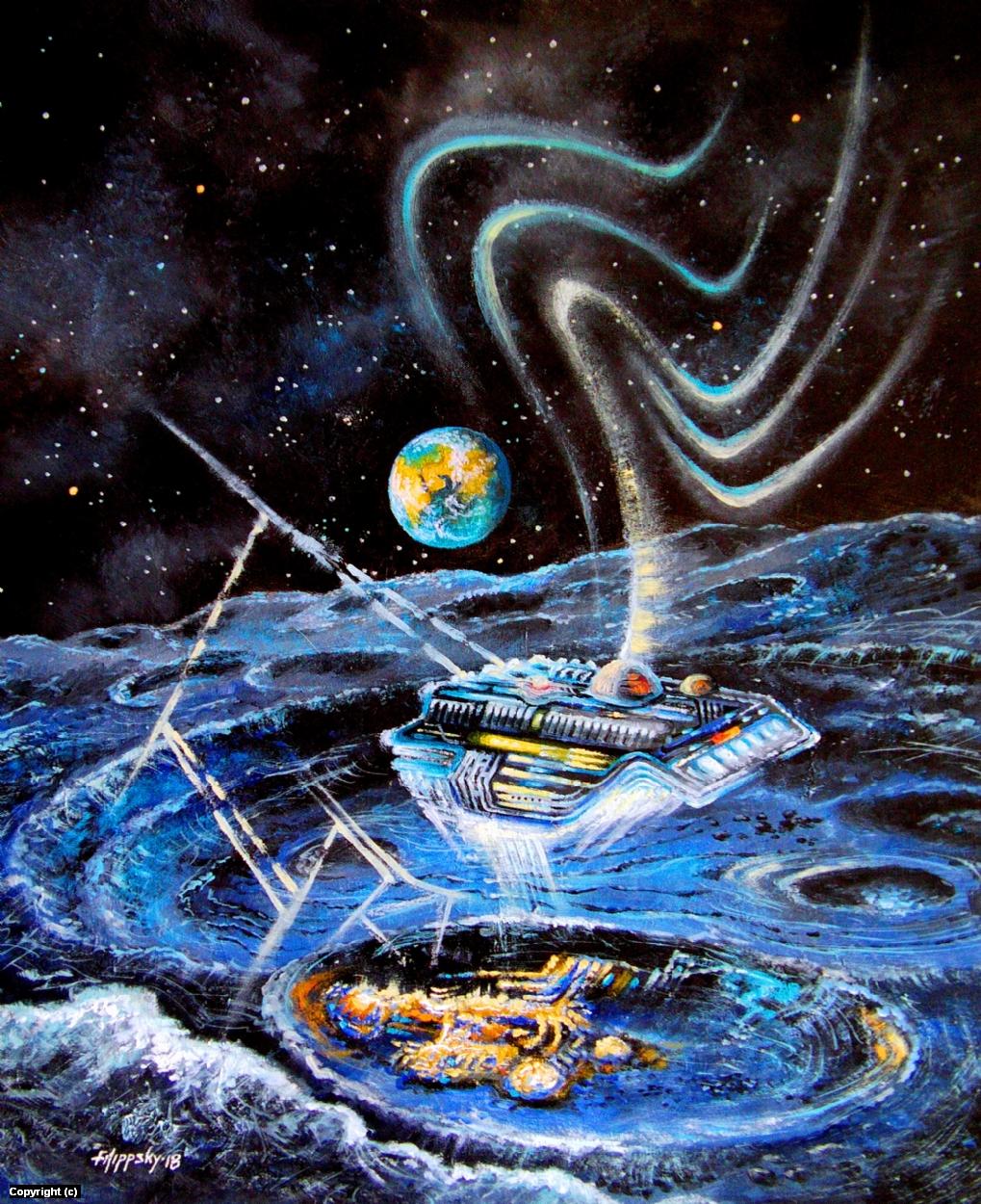 Возвращение из Галактики. Artwork by Victor Filippsky