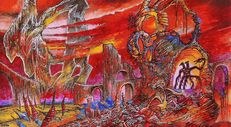 Landscape 5. Artwork by Victor Filippsky
