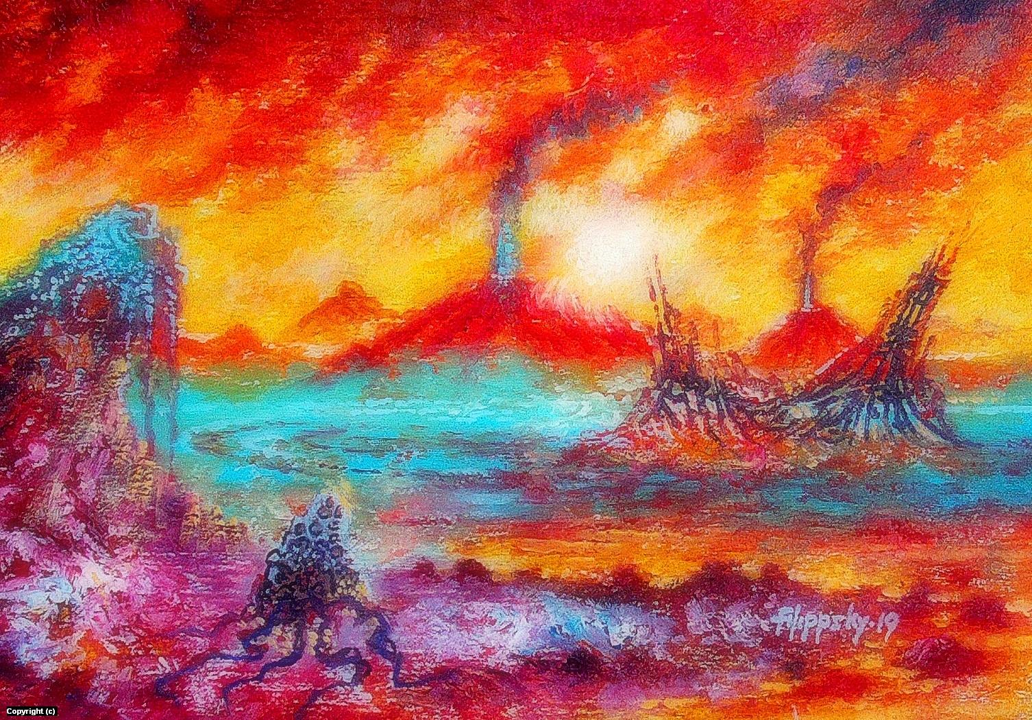 Sol 584. Artwork by Victor Filippsky