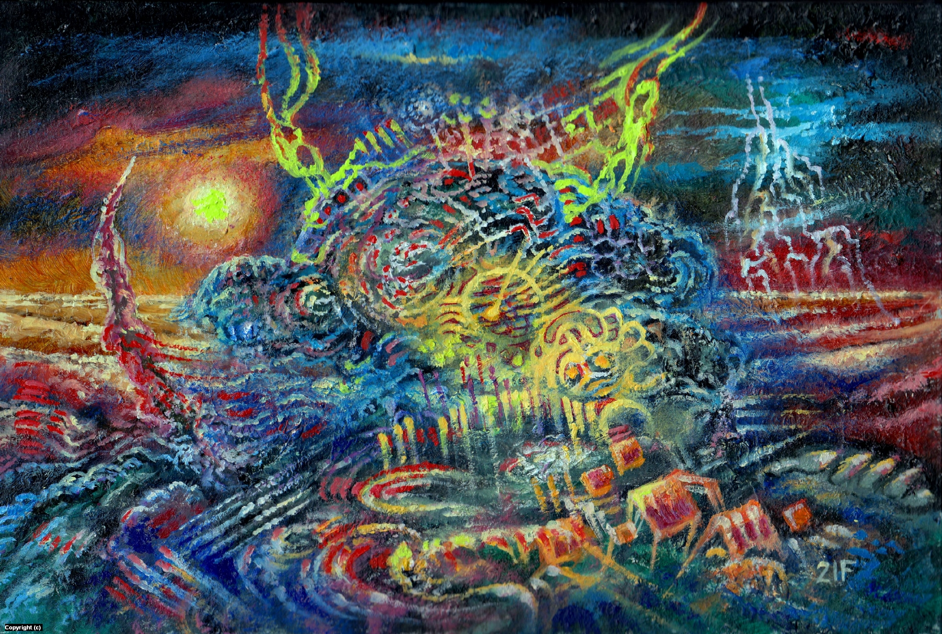 Organism 2. Artwork by Victor Filippsky
