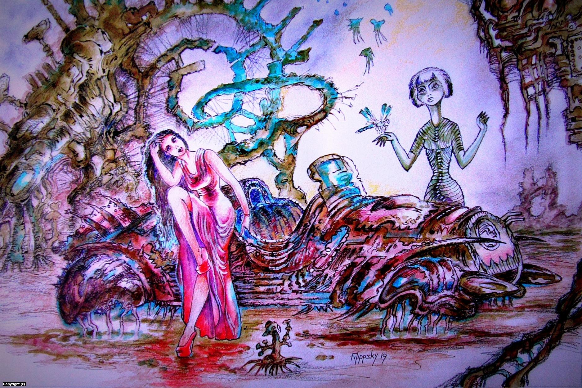 Aliencar. Artwork by Victor Filippsky
