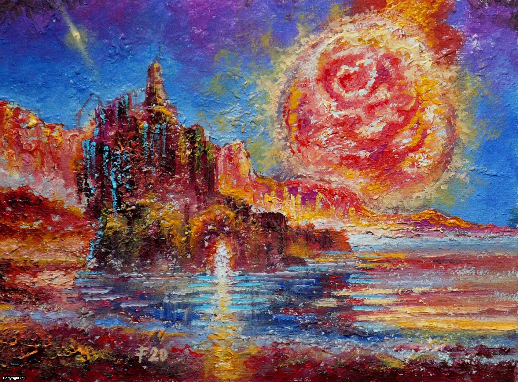 Red star. Artwork by Victor Filippsky