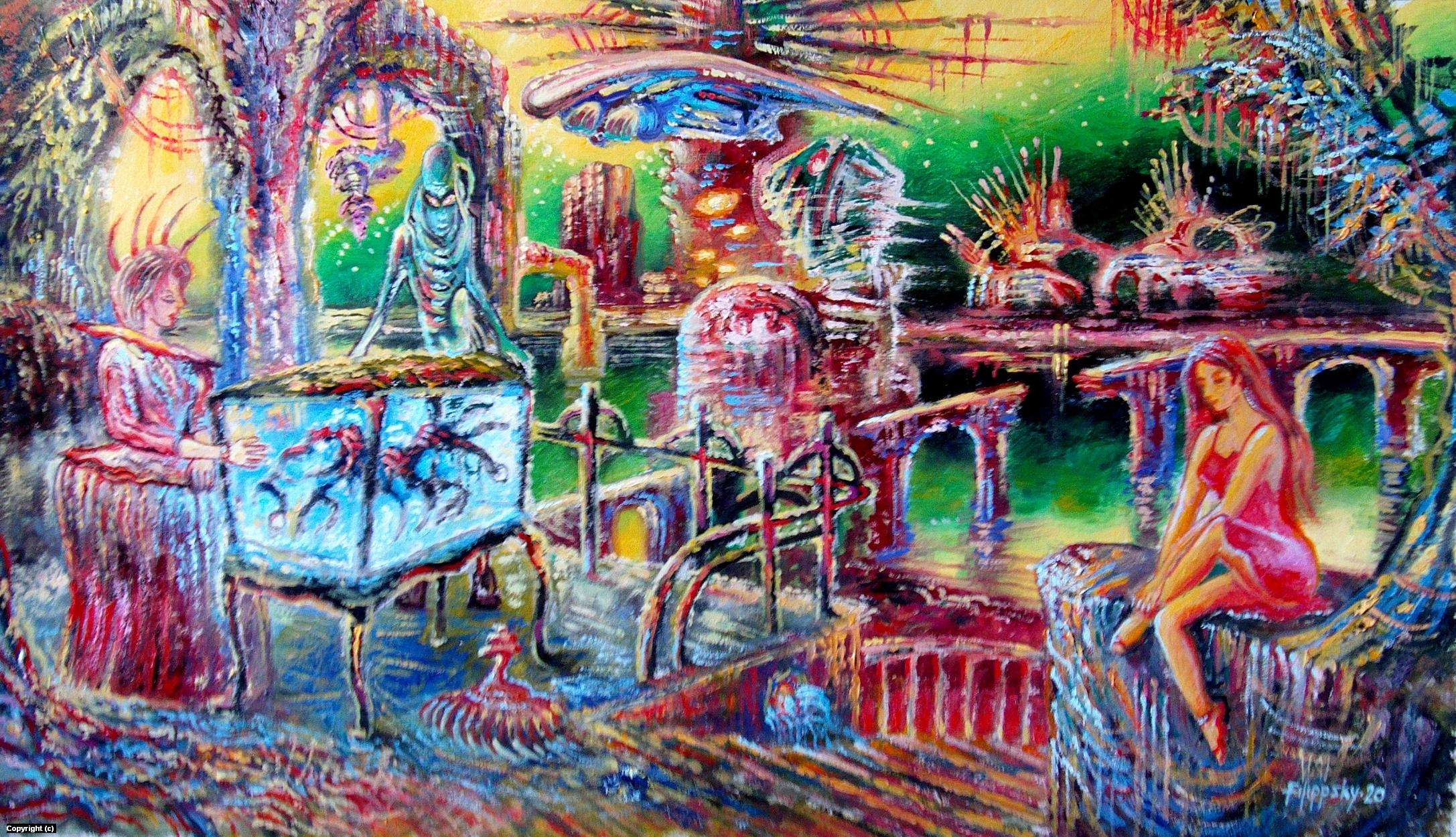 Aguarium. Artwork by Victor Filippsky