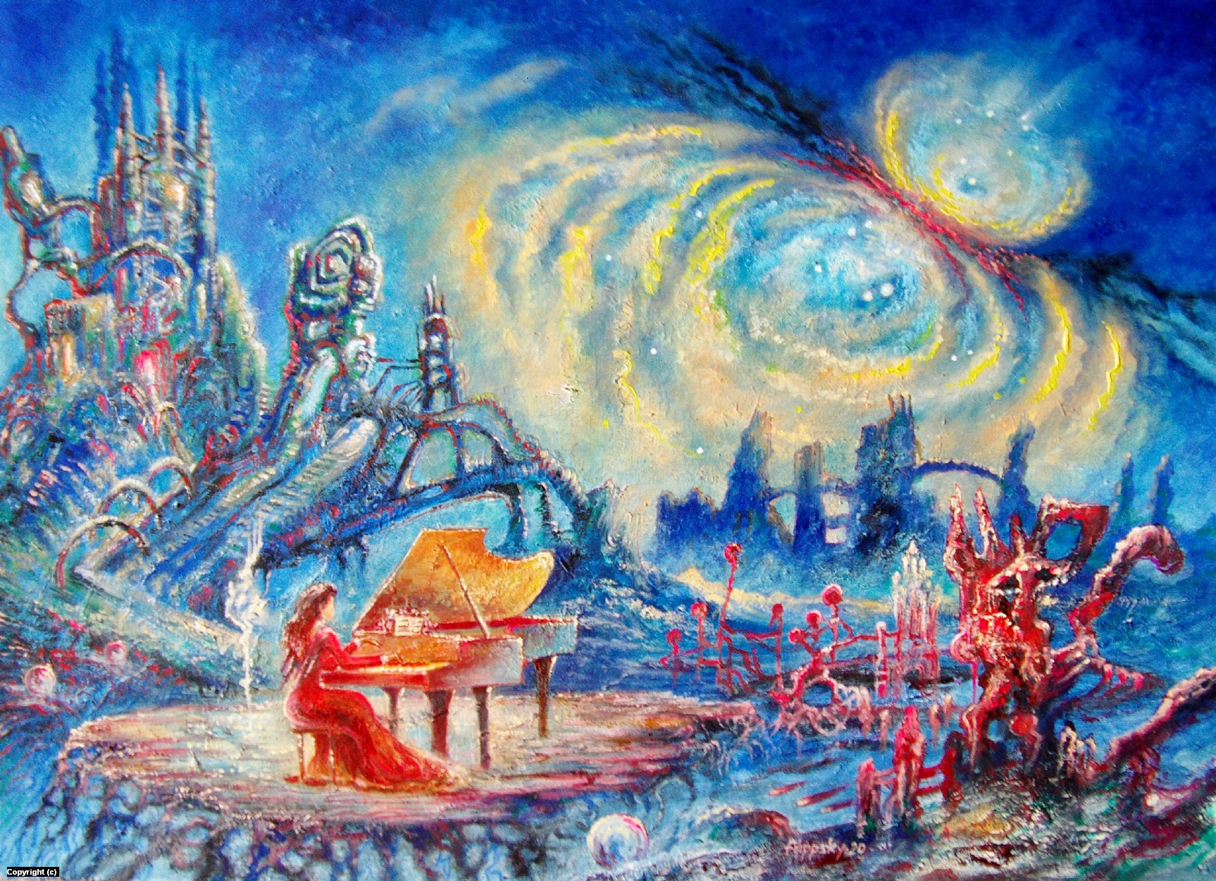 Space music. Artwork by Victor Filippsky