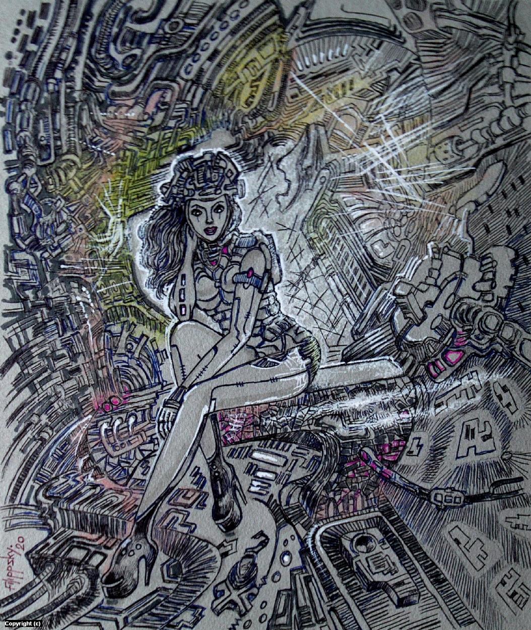 CyberPunk 1. Artwork by Victor Filippsky