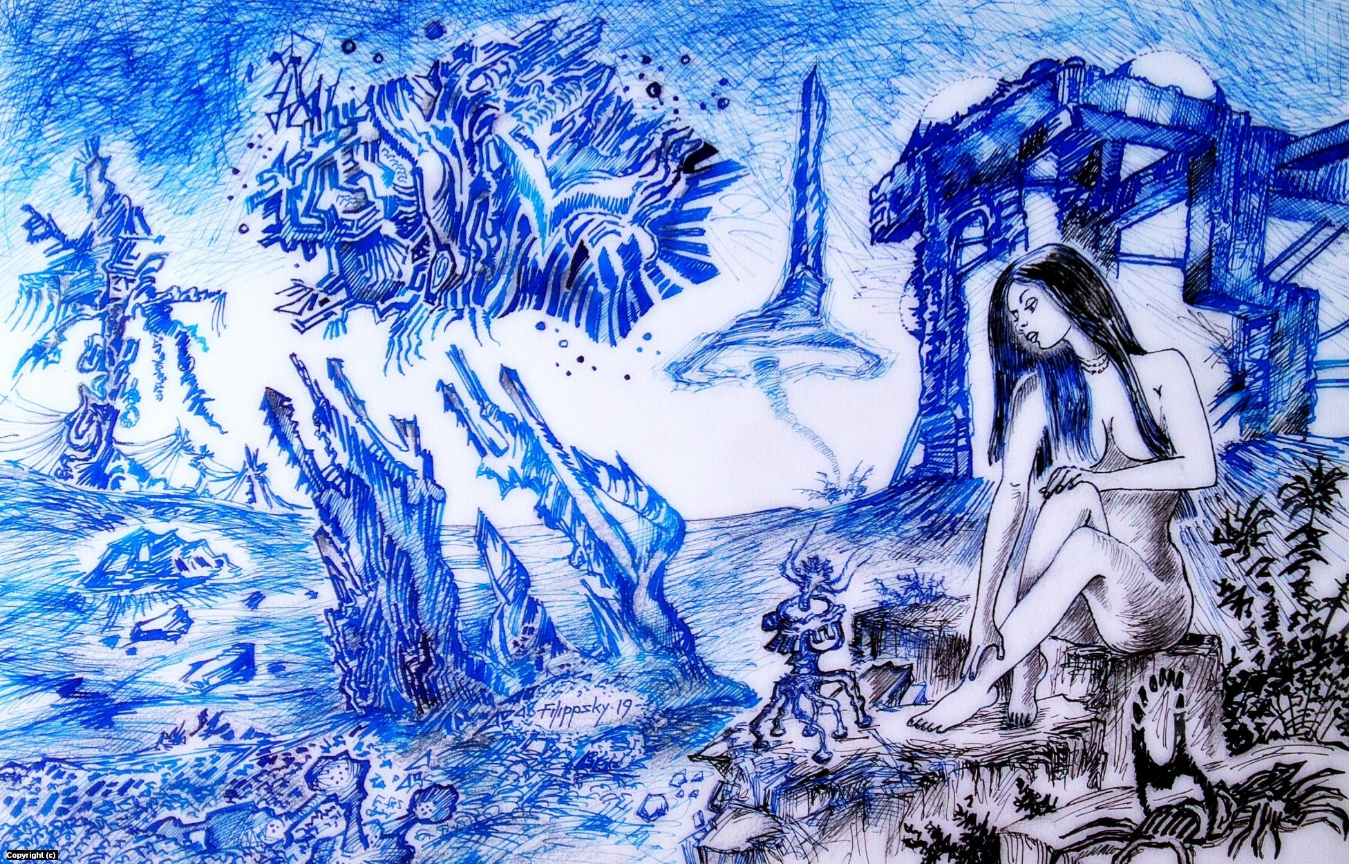 Dialogue. Artwork by Victor Filippsky