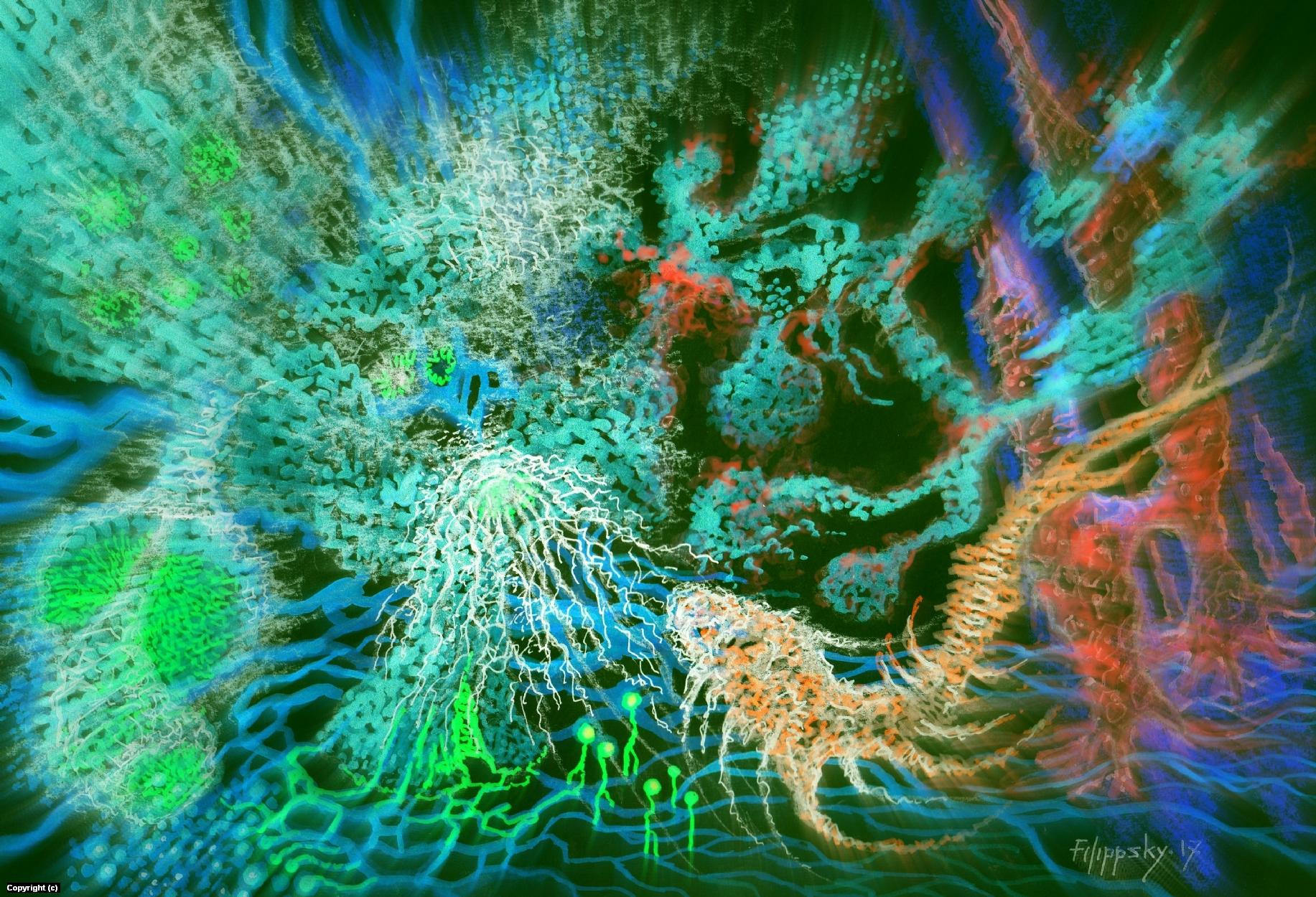 В глубинах экзопланеты-1. Artwork by Victor Filippsky