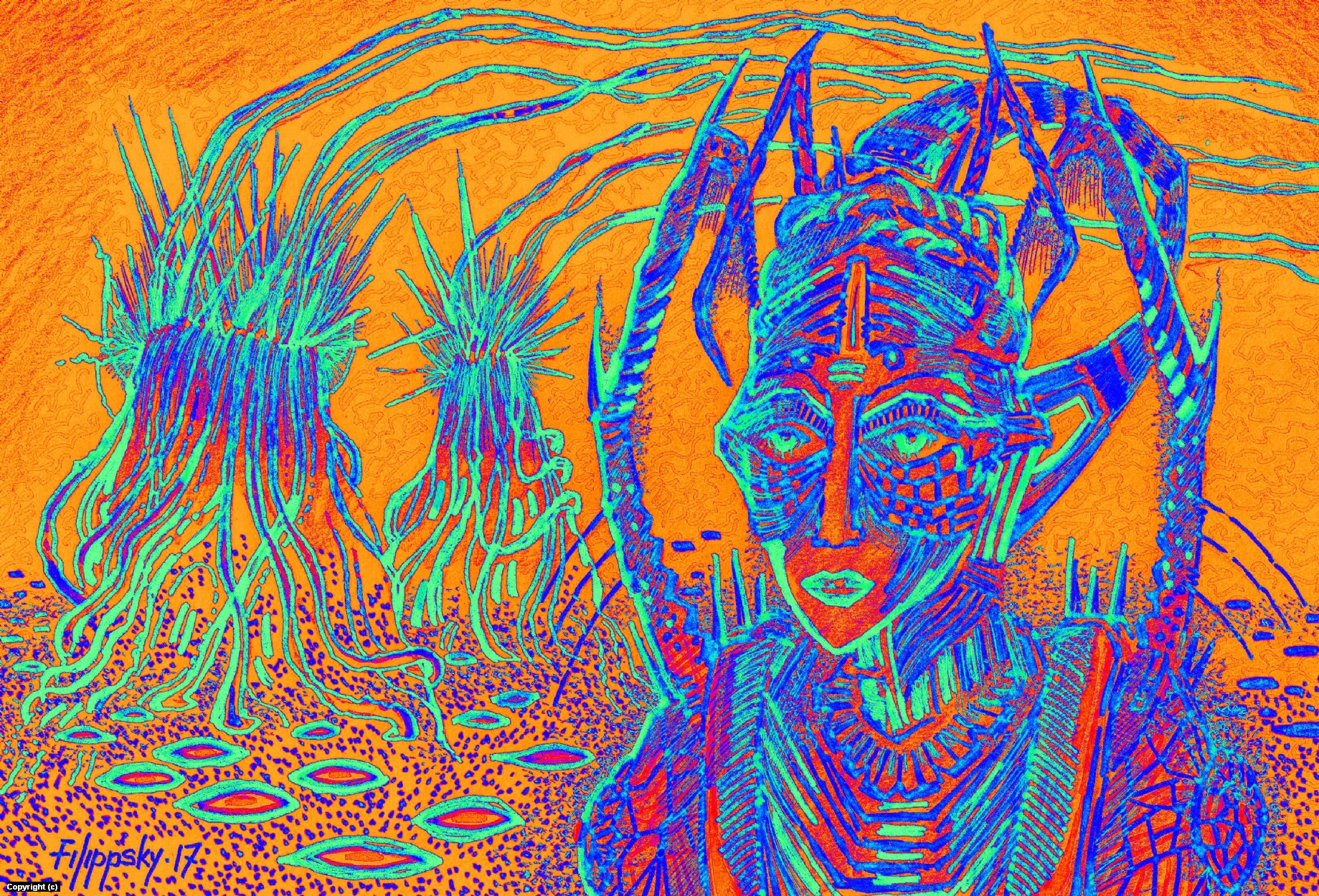 Обитатель. Artwork by Victor Filippsky