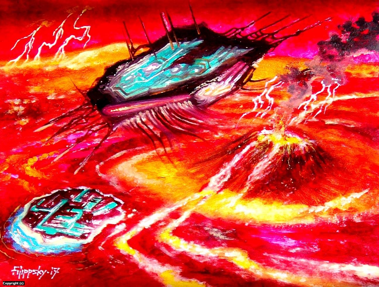 Пришельцы на Венере.Исследователи. Artwork by Victor Filippsky