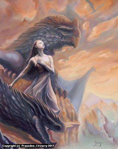 Dragon Dance Artwork by Praxedes Irizarry