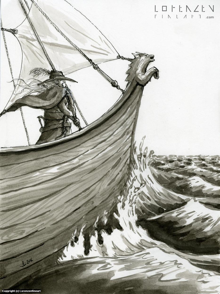 Crossing the Seas Artwork by Justin Lorenzen