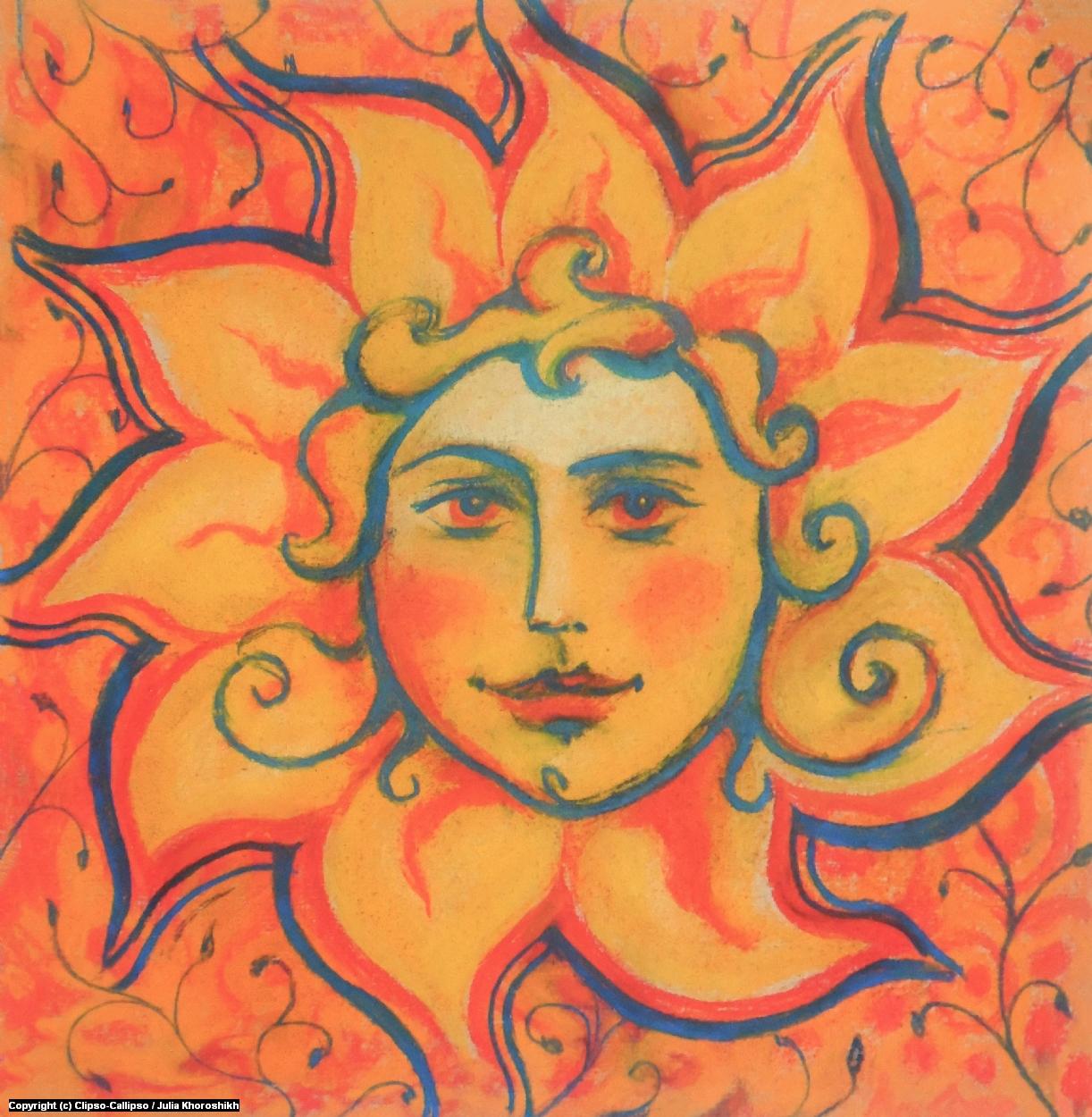 The Sun Artwork by Julia Khoroshikh