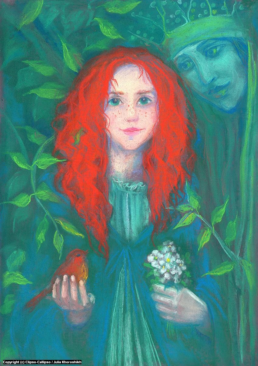 Child of the Forest Artwork by Julia Khoroshikh