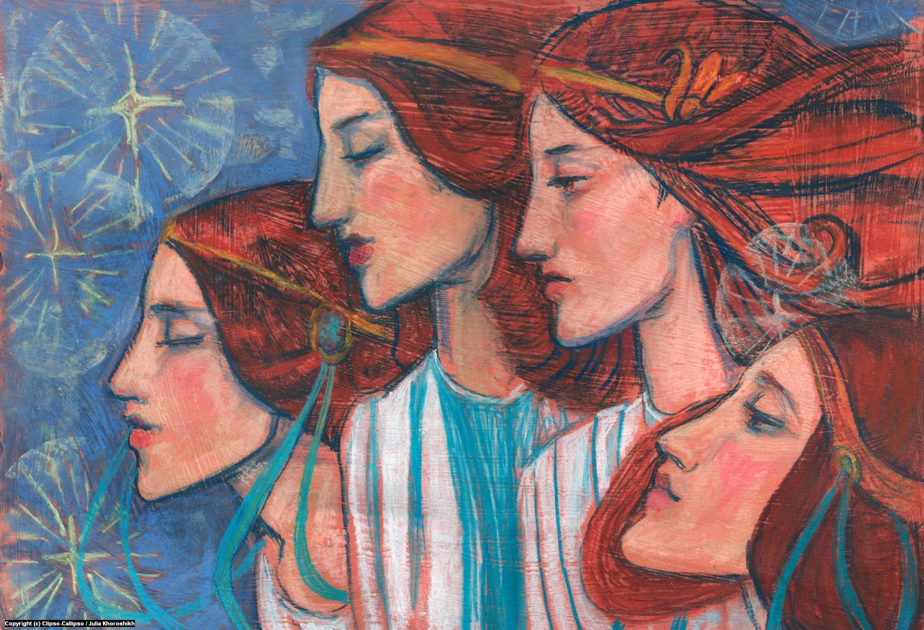 Tribute to Art Nouveau Artwork by Julia Khoroshikh