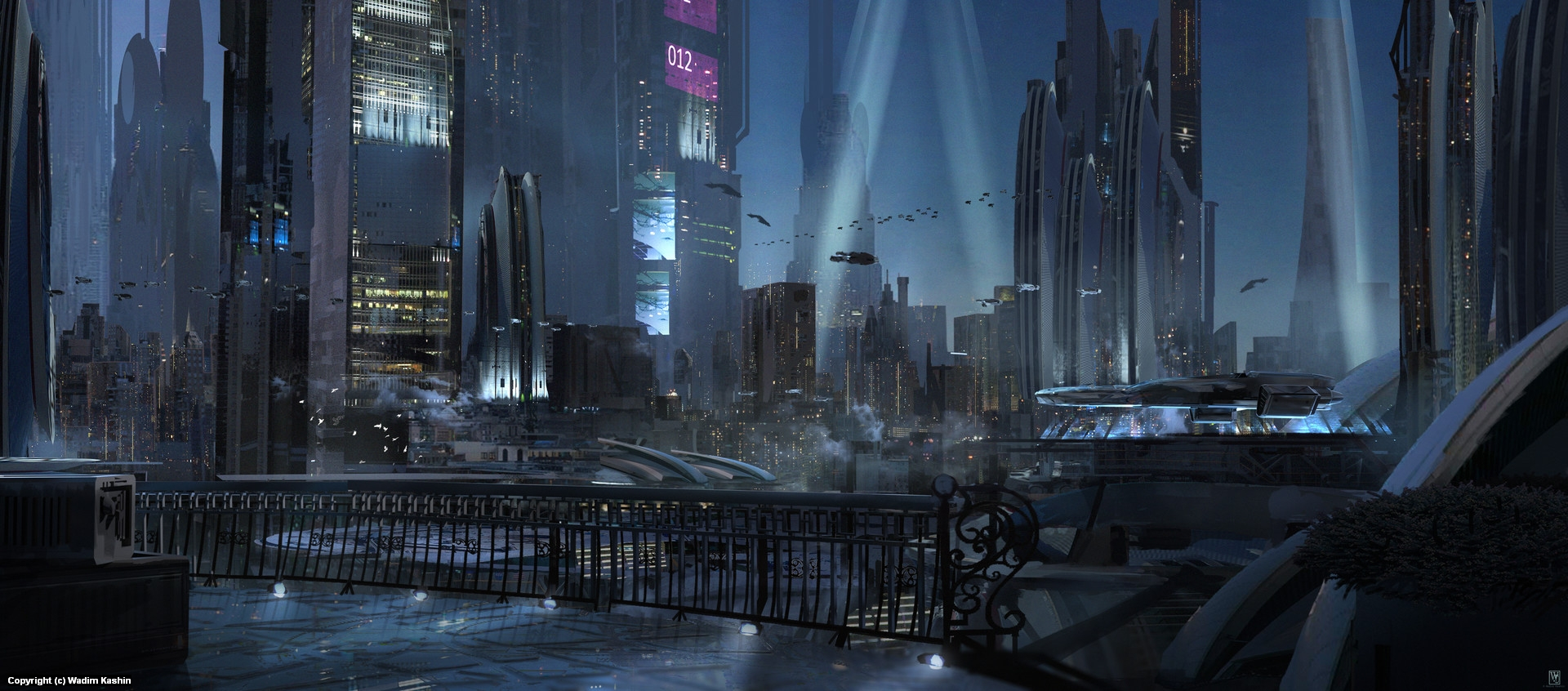 Night Lights Artwork by Wadim Kashin