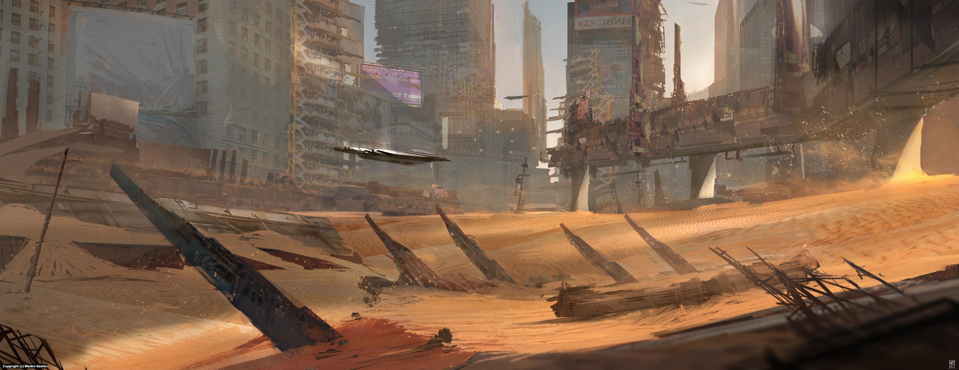 Desert City Artwork by Wadim Kashin